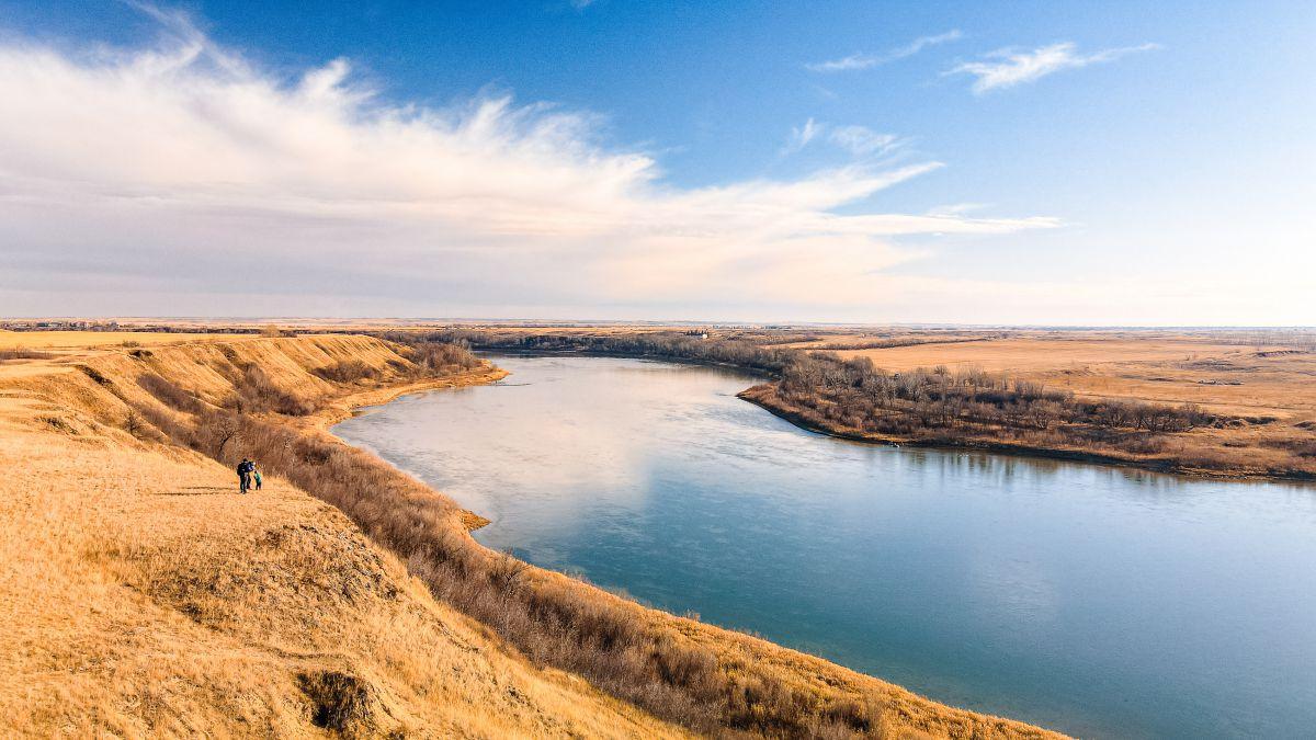 View of the Saskatchewan river